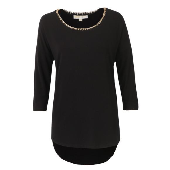 Michael Kors Womens Black Chain Neck Top  main image