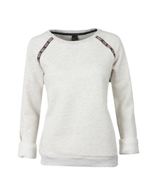 Maison Scotch Womens Grey Crew Neck Sweat With Tape