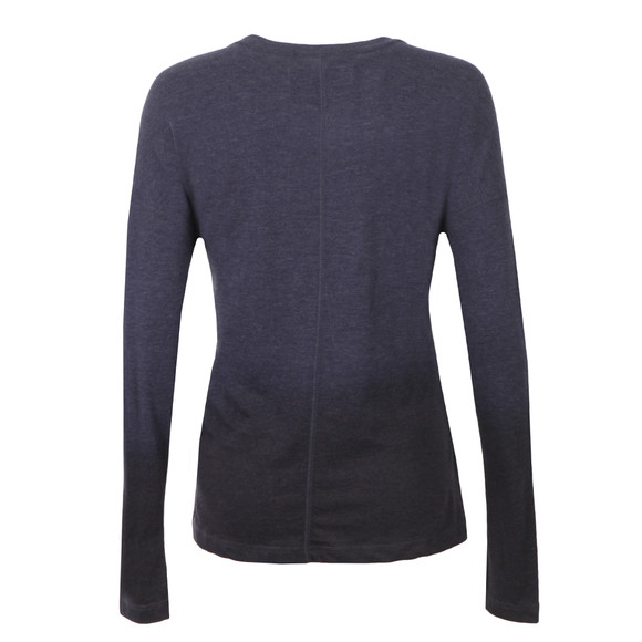 Superdry Womens Blue Ombre Sequin Pocket Long Sleeve T Shirt main image
