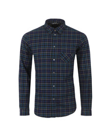 Paul Smith Jeans Mens Blue Classic Fit Check Shirt