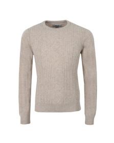Original Penguin Mens Grey Engineered Aran Jersey Knit