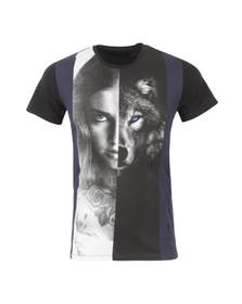 Religion Mens Black Wolf Girl Crew T Shirt