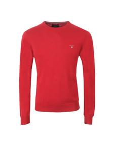 Gant Mens Red Cotton/Wool Crew Jumper