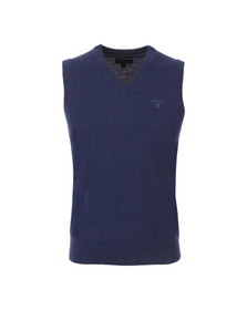 Gant Mens Blue Light Weight Lambswool Slipover