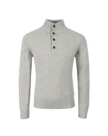 Gant Mens Grey Merino Wool Mock Neck Jumper