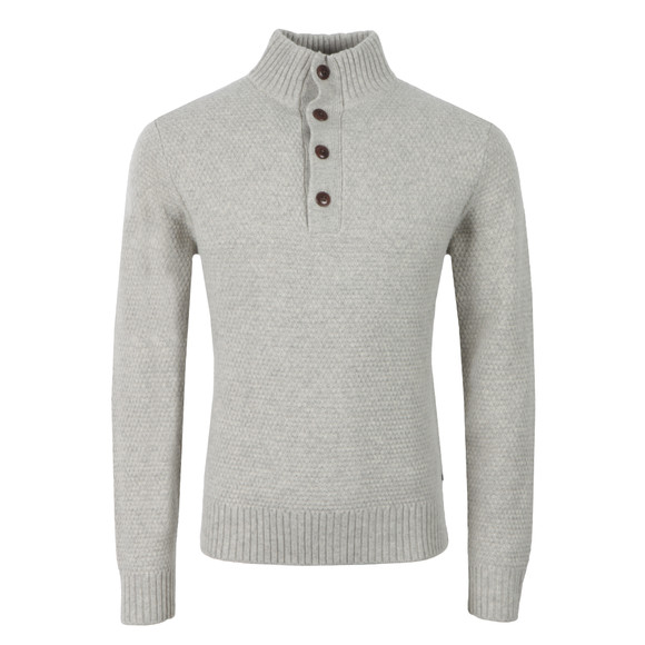 Gant Mens Grey Merino Wool Mock Neck Jumper main image