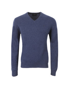 Hackett Mens Blue V Neck Jumper