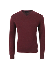 Hackett Mens Red V Neck Jumper
