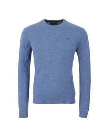 Hackett Mens Blue Lambswool Crew Neck Jumper
