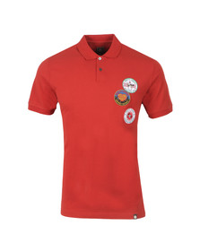 Pretty Green Northern Soul Mens Red Symbol Polo Shirt