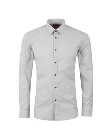 Hugo Mens White Elisha Slim Fit Spot Pattern Shirt