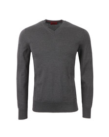 Hugo Mens Grey Sacaralio V Neck Jumper