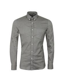 J.Lindeberg Mens Green Dani BD Pocket Stretch Plain Oxford  Shirt
