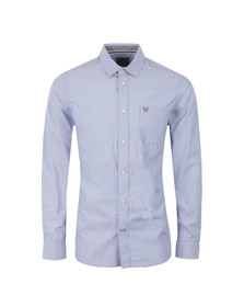 Crew Mens Blue L/S Wittering Shirt