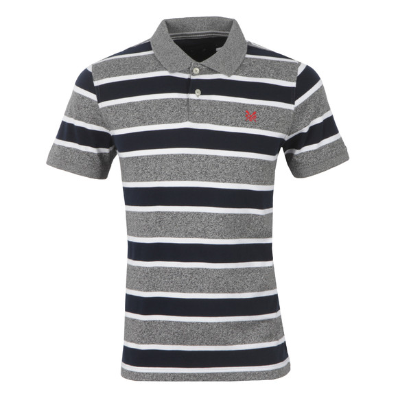 Crew Mens Blue S/S Stripe Polo main image