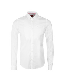 Luke Mens White L/S 2 Eye Shirt