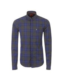 Luke Mens Blue Bailey Button Down LS Shirt