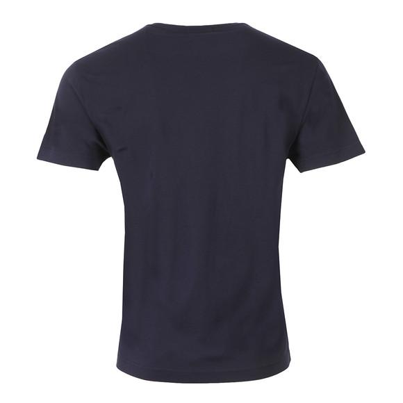 Gant Mens Blue Solid Crew Neck T-Shirt main image