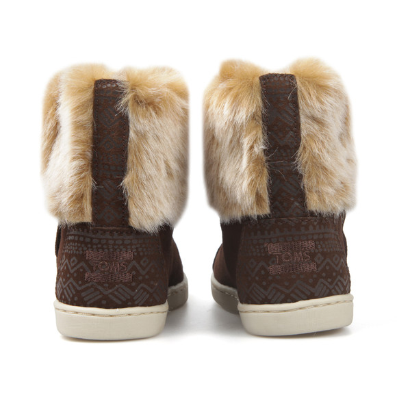 Toms Girls Brown Suede Faux Fur Nepal Boot main image