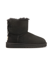 Ugg Girls Black Kids Mini Bailey Bow