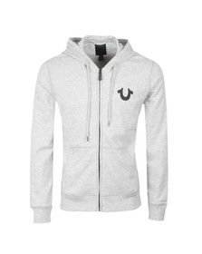 True Religion Mens Grey Crafted With Pride Hoody