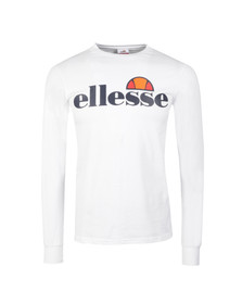 Ellesse Mens White Bianchi Long Sleeve T Shirt