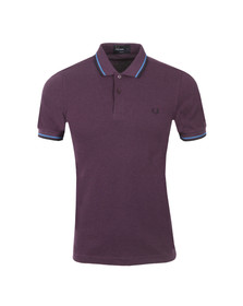Fred Perry Mens Purple Slim Fit Twin Tipped Polo