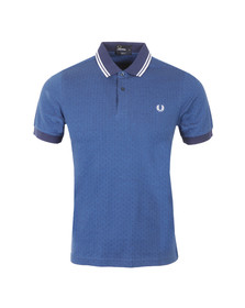 Fred Perry Mens Blue S/S Polka Dot Polo Shirt