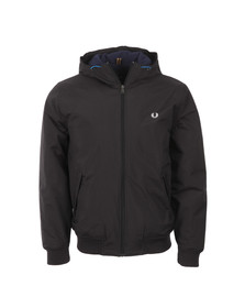 Fred Perry Mens Black Brentham Hooded Quilt Jacket