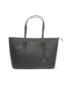 Michael Kors Womens Black Jet Set Zip Multifunction Tote