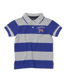 Hackett Boys Grey YD Stripe Polo Shirt