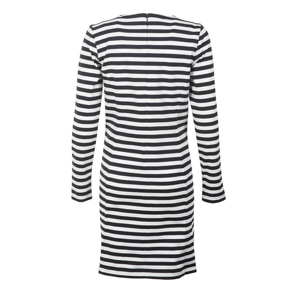 Michael Kors Womens Blue Zip Detail Stripe Dress main image