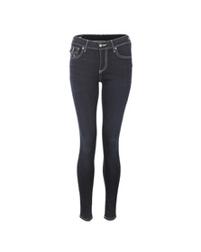 True Religion Womens Blue Halle Super Skinny With Flap Jean