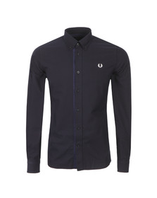 Fred Perry Mens Blue Gingham Trim Oxford LS Shirt