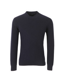 Paul Smith Jeans Mens Blue Ribbed Crew Neck Knitted Jumper