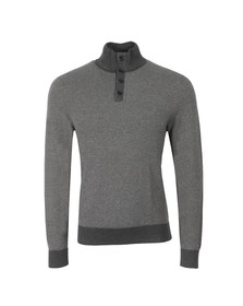 Tommy Hilfiger Mens Grey Structured Half Button Sweat