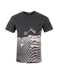 Paul Smith Jeans Mens Blue Regular T Shirt With Dots