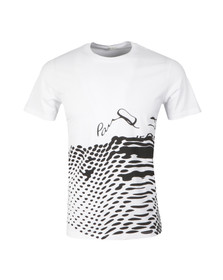 Paul Smith Jeans Mens White Regular T Shirt With Dots