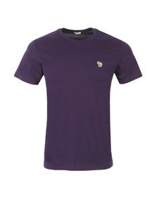 Paul Smith Jeans Mens Purple Zebra Badge Crew T-Shirt