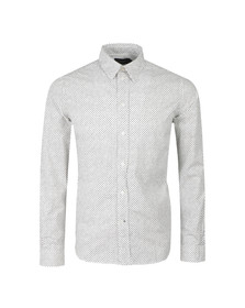 Paul Smith Jeans Mens White Tailored Fit Dot Shirt