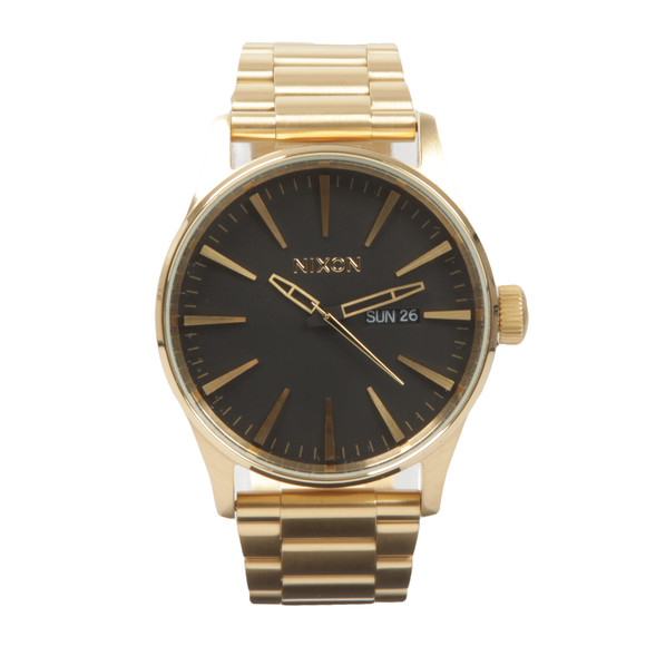 Nixon Mens Gold Nixon Sentry SS Watch main image