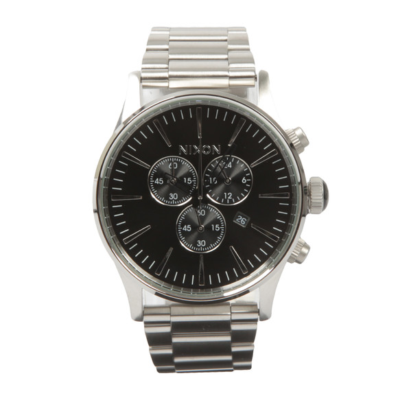Nixon Mens Black Sentry Chrono Watch