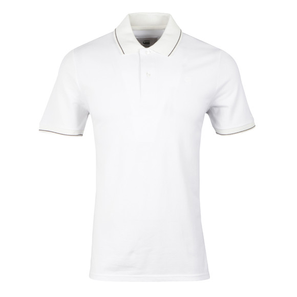 G-Star Mens White Mondollo Polo Shirt main image