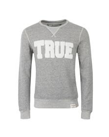 True Religion Mens Grey True Crew Neck Sweatshirt
