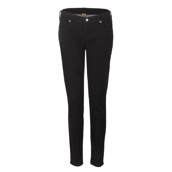 True Religion Womens Black Casey Low Rise Skinny Jean