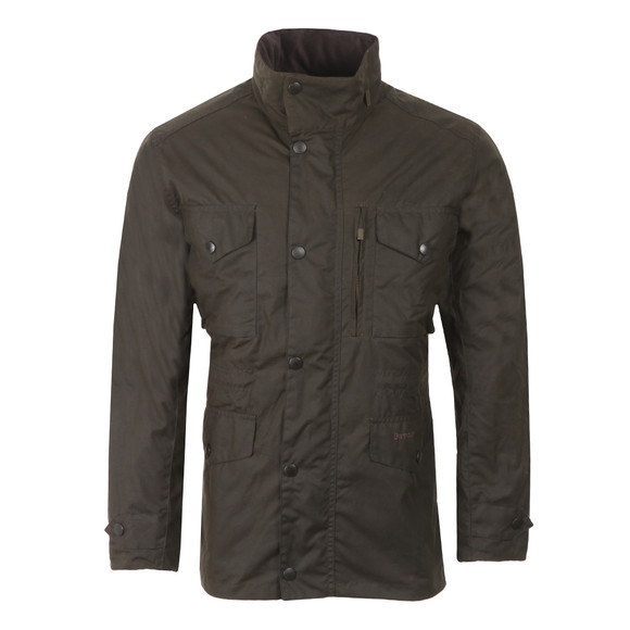 Barbour Lifestyle Mens Green Sapper Wax Jacket