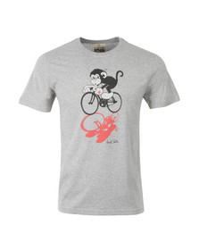 Paul Smith Jeans Mens Grey Bicycle Monkey T Shirt