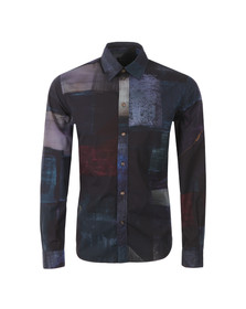 Paul Smith Jeans Mens Blue Tailored Fit Patterned Shirt
