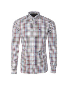 Fred Perry Mens White Bold Gingham L/S Shirt