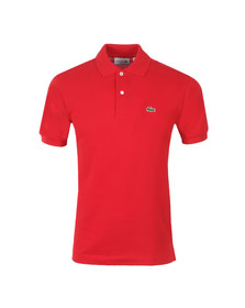 Lacoste Mens Red L1212 Plain Polo Shirt